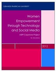 Women Empowerment through Technology and Social Media
