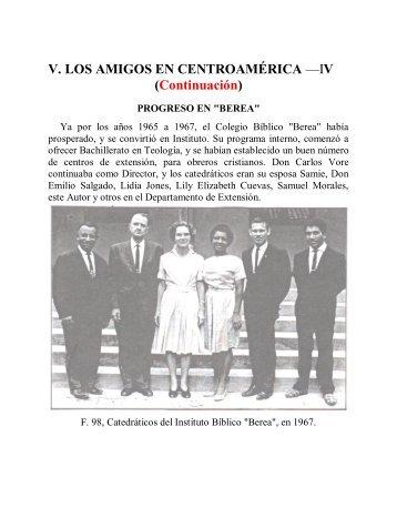 V. LOS AMIGOS EN CENTROAMÉRICA —IV ... - Instituto ALMA