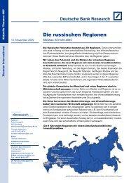 Die russischen Regionen - Deutsche Bank Research