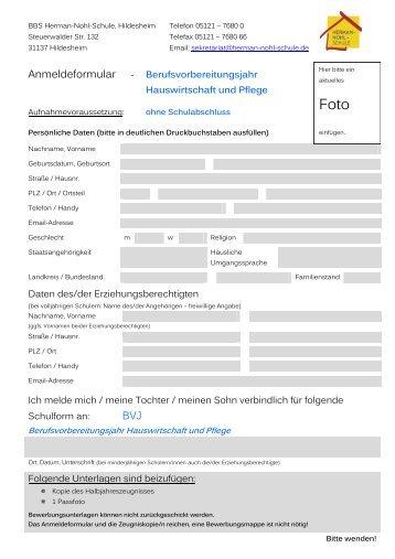 Praktikum im Schwerpunkt Sozialpädagogik - Herman-Nohl-Schule