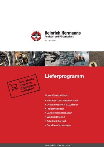 Lieferprogramm als PDF downloaden? - Heinrich Hermanns Antriebs