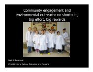 Community engagement and environmental outreach: no shortcuts ...