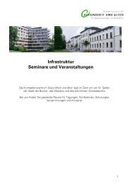 Infrastruktur Seminare und Veranstaltungen - Kompetenzzentrum ...