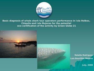 Basic diagnosis of whale shark tour operators performance