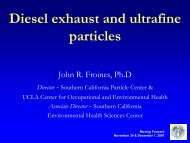 Diesel and ultrafine particle exposures - hydra.usc.edu