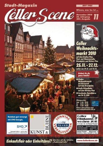 Celler Weihnachts- markt 2010 - Celler Scene