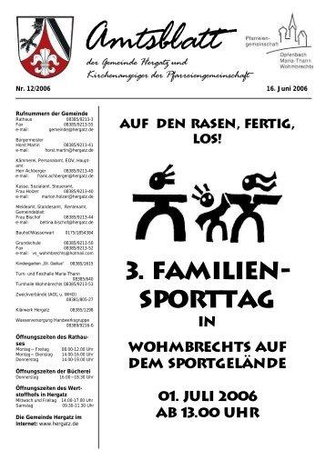 Gemeindeblatt Nr. 12 vom 16. Juni 2006 - Gemeinde Hergatz