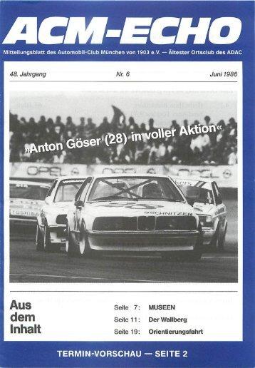 echo-1986-06 - ACM Automobilclub München von 1903 e. V.