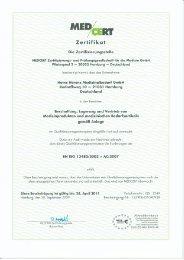 Zertifikat - Heinz Herenz Medizinalbedarf GmbH