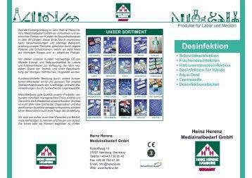 Desinfektion - Heinz Herenz Medizinalbedarf GmbH