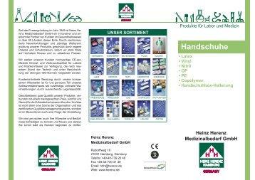 Handschuhe - Heinz Herenz Medizinalbedarf GmbH