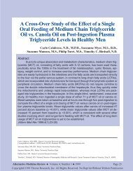 A Cross-Over Study of the Effect of a Single Oral Feeding of Medium ...