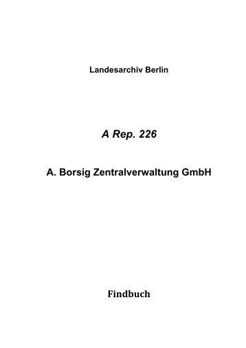 A Rep. 226 - Landesarchiv Berlin