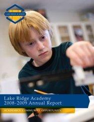 Lake Ridge Academy 2008-2009 Annual Report