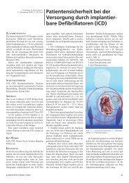 Patientensicherheit bei der Versorgung durch implantierbare ...