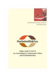 H&F Pektin Amid CF 025-D - Herbstreith & Fox
