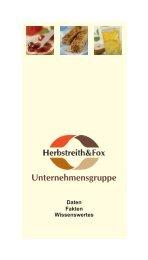 Unternehmensgruppe - Herbstreith & Fox
