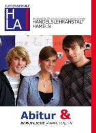 Abitur plus wirtschaftliche Grundbildung - Handelslehranstalt Hameln