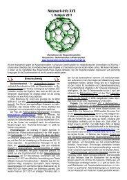 Netzwerk-Info XVII 1. Halbjahr 2011 - Kooperationsstelle Hochschulen