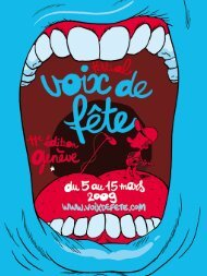 La Fnac, partenaire du festival Voix de fête 2009 - Catalyse