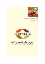 Konfitüren und Fruchtaufstriche mit optimaler ... - Herbstreith & Fox