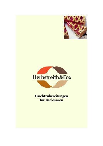 Fruchtzubereitungen für Backwaren - Herbstreith & Fox