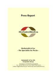 Press Report - Herbstreith & Fox