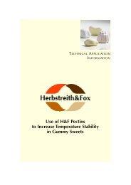 Einsatz von H&F-Pektinen zur Erhöhung der ... - Herbstreith & Fox