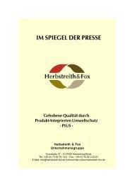 IM SPIEGEL DER PRESSE - Herbstreith & Fox