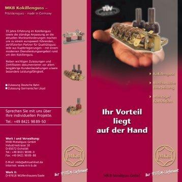 Mechanische Bearbeitung Montage/Konfektion - MKB Metallguss ...