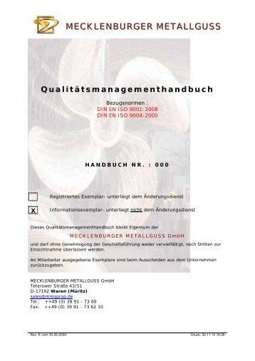MECKLENBURGER METALLGUSS