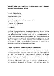 Untersuchungen zum Einsatz von Ethernetvernetzungen im elektro ...