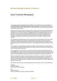 Op het gebied van gelijke behandeling m/v en non ... - E-Quality