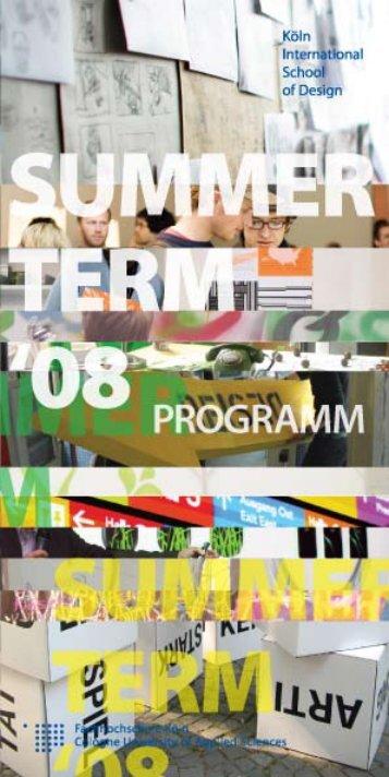 Sommersemester 2008 - KISD