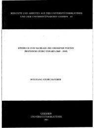 berichte und arbeiten aus der universitatsbibliothek - Zur Giessener ...