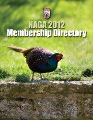 NAGA 2012 Membership Directory - North American Gamebird ...