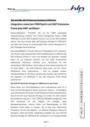 SAP und CMS: SAP EP Business Package for FIRSTspirit - HLP ...