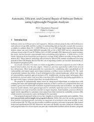 Automatic, Efficient, and General Repair of Software Defects using ...
