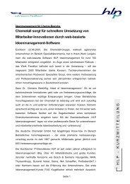 Kurzmitteilung Chemetall - HLP Informationsmanagement  GmbH