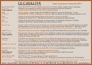Dates de parutions et temps forts 2011 - Le Cavalier Romand