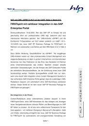 Kurzmitteilung HLP und e_Spirit - HLP Informationsmanagement  ...