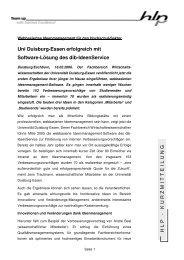 Zur Kurzpressemeldung - HLP Informationsmanagement  GmbH
