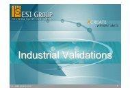 Industrial Validations