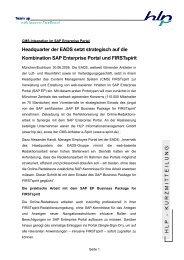 Kurzmitteilung EADS und FIRSTspirit - HLP ...