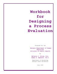 Workbook for Designing a Process Evaluation - Georgia Division of ...