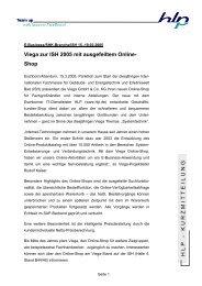 Kurzmitteilung Viega auf der ISH 2005 - HLP ...