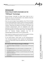 Bosch Kurzpressemeldung - HLP Informationsmanagement  GmbH