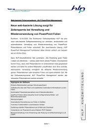 """Web-basierte Folienverwaltung/ """"HLP PowerPoint Management"""""""