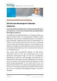 Pressemeldung DPD - HLP Informationsmanagement  GmbH