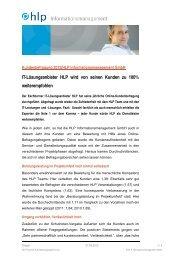 Die Pressemitteilung als PDF - HLP Informationsmanagement  GmbH